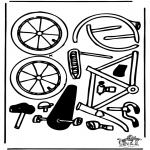 Lavori manuali - Figurina da ritagliare Bici