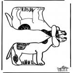 Lavori manuali - Figurina da ritagliare Cane