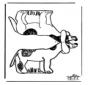 Figurina da ritagliare Cane