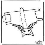 Lavori manuali - Figurina da ritagliare Capra 1