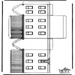 Lavori manuali - Figurina da ritagliare Casa 1