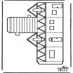 Lavori manuali - Figurina da ritagliare Casa 2