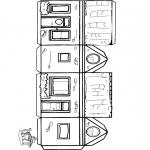 Lavori manuali - Figurina da ritagliare casetta 1