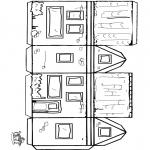 Lavori manuali - Figurina da ritagliare casetta 2