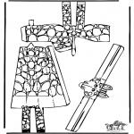 Lavori manuali - Figurina da ritagliare Giraffa 1