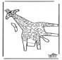 Figurina da ritagliare Giraffa 2