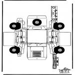Lavori manuali - Figurina da ritagliare Hummer