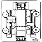 Lavori manuali - Figurina da ritagliare Macchina