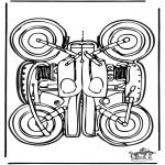 Lavori manuali - Figurina da ritagliare Moto