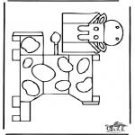 Lavori manuali - Figurina da ritagliare Mucca 1
