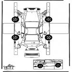 Lavori manuali - Figurina da ritagliare Porsche
