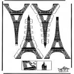 Lavori manuali - Figurina da ritagliare Torre Eiffel