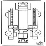Lavori manuali - Figurina da ritagliare Vigili del Fuoco