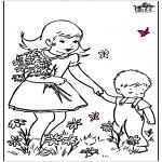Disegni da colorare Vari temi - Fiori di primavera 2