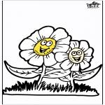 Disegni da colorare Vari temi - Fiori di primavera 3