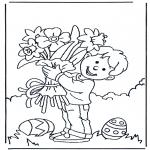 Disegni da colorare Temi - Fiori pasquali