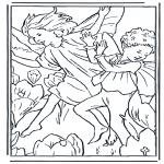 Disegni da colorare Vari temi - Folletti ballanti