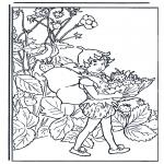 Disegni da colorare Vari temi - Folletto con fragole