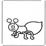 Disegni da colorare Animali - Formica