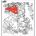 Disegni da colorare Vari temi - Fungi 2