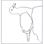 Disegni da colorare Animali - Gabbiano su pietra