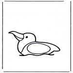 Disegni da colorare Animali - Gabbiano sullacqua