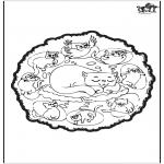 Disegni da colorare Mandala - Gatti - mandala