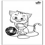 Disegni da colorare Animali - Gatto 5