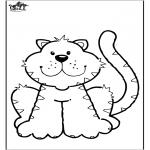 Disegni da colorare Animali - Gatto 6