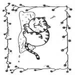 Disegni da colorare Animali - Gatto dormente