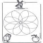 Disegni da colorare Mandala - Geomandala 1