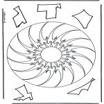Disegni da colorare Mandala - Geomandala 10