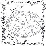 Disegni da colorare Mandala - Geomandala 12