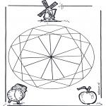 Disegni da colorare Mandala - Geomandala 2