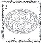 Disegni da colorare Mandala - Geomandala 5