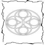 Disegni da colorare Mandala - Geomandala 6