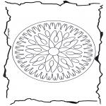 Disegni da colorare Mandala - Geomandala 7