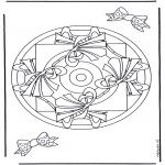 Disegni da colorare Mandala - Geomandala 9