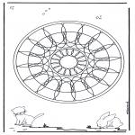 Disegni da colorare Mandala - Geomandala animali 4