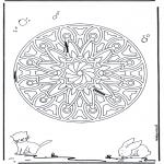 Disegni da colorare Mandala - Geomandala animali 6