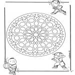 Disegni da colorare Mandala - Geomandala bambini 1