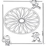 Disegni da colorare Mandala - Geomandala bambini 2