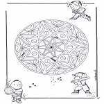 Disegni da colorare Mandala - Geomandala bambini 3