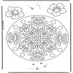 Disegni da colorare Mandala - Geomandala - fiori