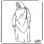 Disegni biblici da colorare - Gesù 1