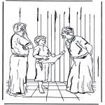 Disegni biblici da colorare - Gesù a 12 anni detà