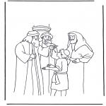 Disegni biblici da colorare - Gesù a dodici anni