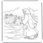 Disegni biblici da colorare - Gesù cammina sulle acque