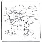 Disegni biblici da colorare - Gesù e Giovanni Battista 1