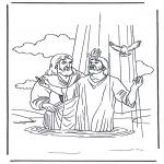 Disegni biblici da colorare - Gesù e Giovanni Battista 2